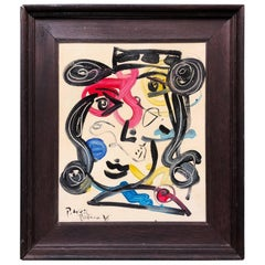 Peter Keil Expressionist Oil Painting of a Spanish Woman