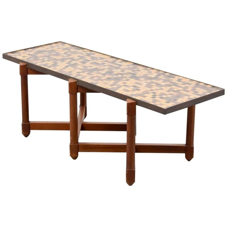 Edward Wormley Coffee Table, Murano Glass
