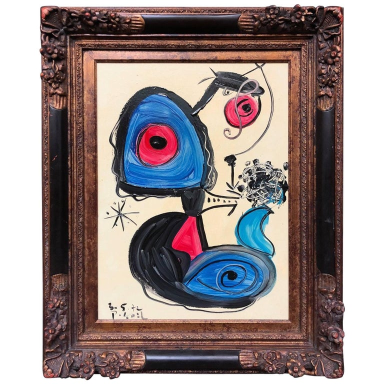 Peter Keil 'Abstract Composition' Oil Painting, Framed