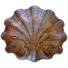 French 19th Century Benetier, Clam Shell Basin