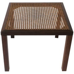 Wood and Cane Side or End Table
