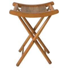 Small Nautical Folding Stool or Bench