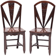 Pair of Chinese Art Deco Side Chairs