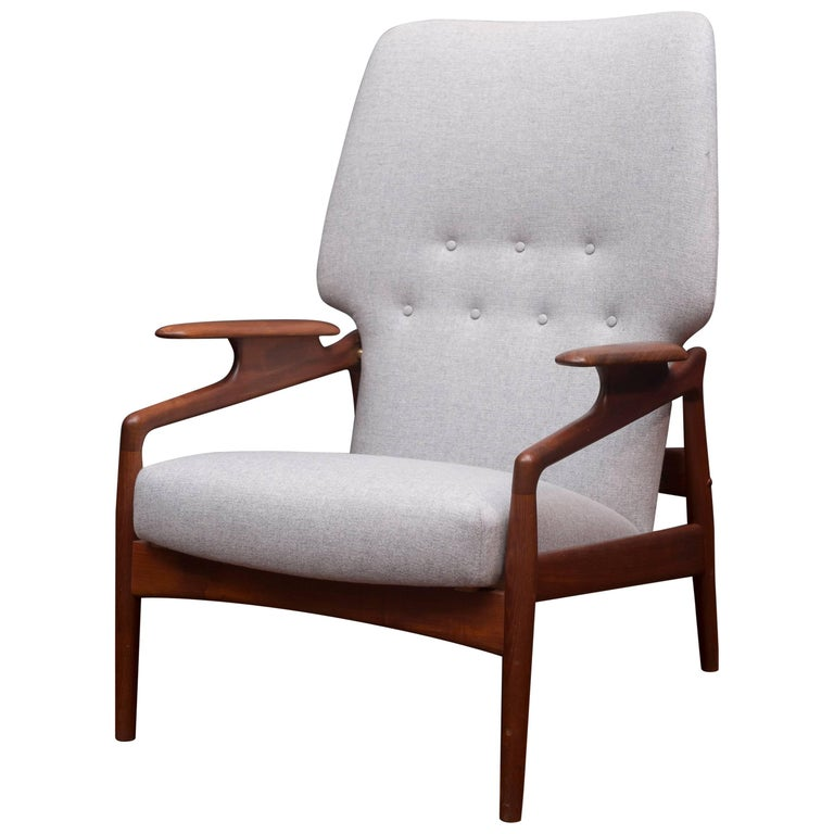 Danish Modern Lounge Chair For Sale