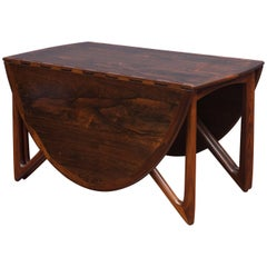 Kurt Ostervig Danish Rosewood Oval Dining Table