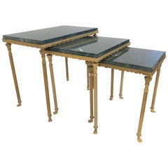 Louis XIV Style Bronze and Marble Nesting Tables