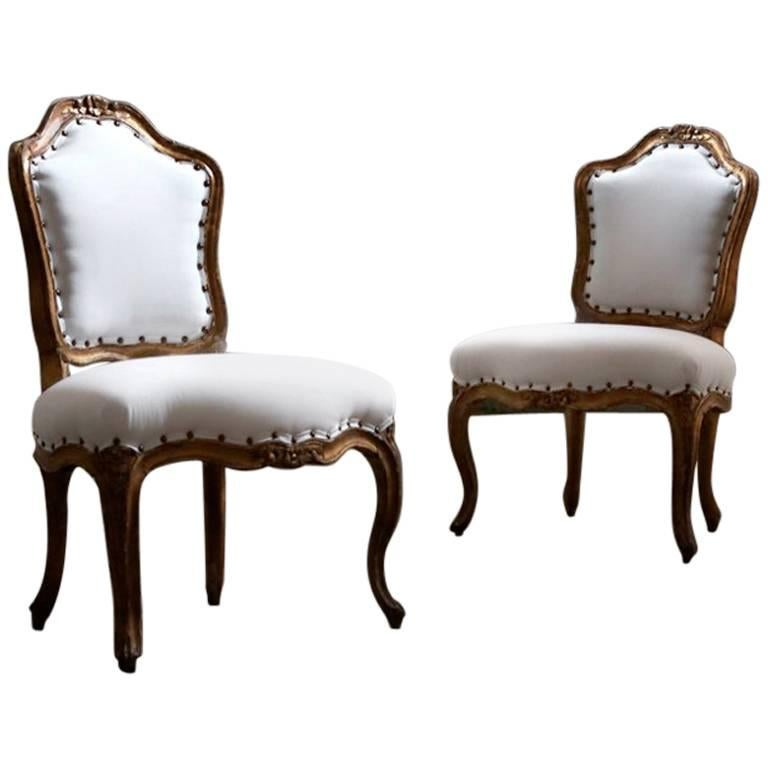19th Century Rococo Side Chairs