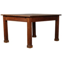 Simple Form Oak Library Table