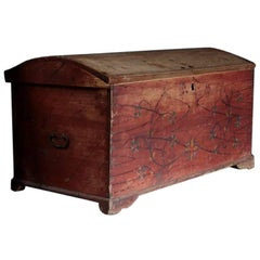 Swedish Trunk with Original Painted