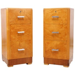 Art Deco Bedside Chests by Maple & Co.