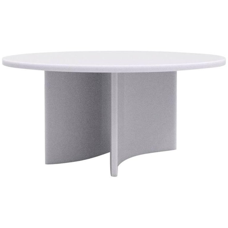Round Soap Dining Table by Sabine Marcelis, Ice Lavender Matte Resin
