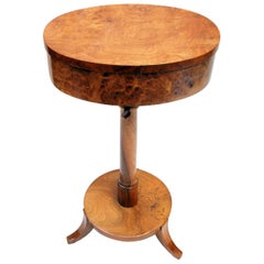 Biedermeier Sewing Table Made of Walnut Wood