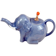 1937s Rare Colclough China Sabu Pattern Elephant Boy Teapot Made in England