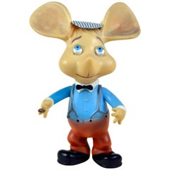1960s Topo Gigio Mouse Rubber Toy Made in Italy