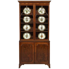 18th Century George III Hepplewhite Period Mahogany Two Door Display Cabinet