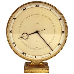 Art Deco Jaeger-LeCoultre Desk or Table Clock in Brass