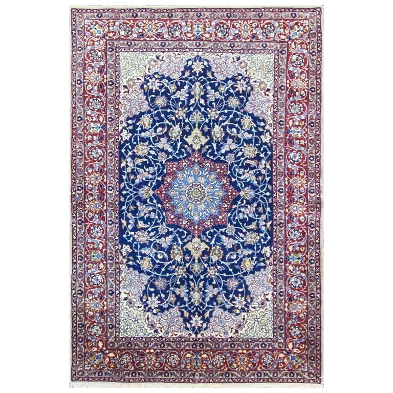 Outstanding Antique Isfahan Ahmad Rug For Sale At 1stdibs
