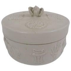 20th Century, Chinese Round Ceramic Box