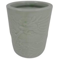 20th Century Chinese Porcelain Brush Pot