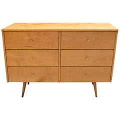 Planner Group Six-Drawer Maple Dresser by Paul McCobb
