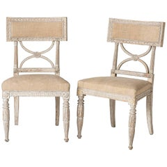 "Pair of Swedish ""Bellman"" Side Chairs, circa 1800"