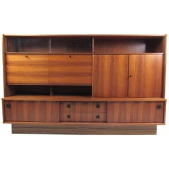 Large Scandinavian Modern Bookcase or Wall Unit