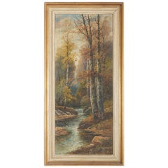 Oil Painting by B. Lambert / K. Kaufman Autumn Landscape with River