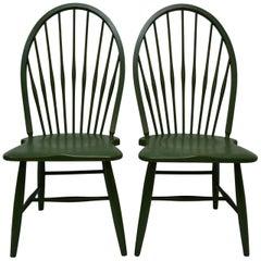 Pair of Beechwood Hoopback Windsor Side Chairs