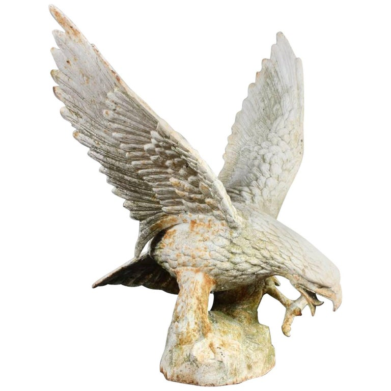 Cast Iron Eagle Garden Art Sculpture