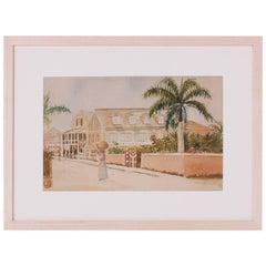 Antique Caribbean Watercolor