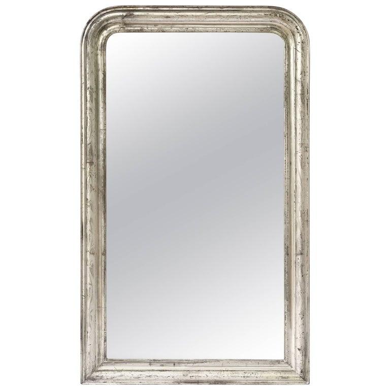Silver Gilt Louis Philippe Mirror (H 53 3/4 x W 32 1/2)