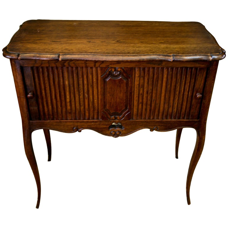 19th Century French Walnut Side Cabinet in Louis XVI Style