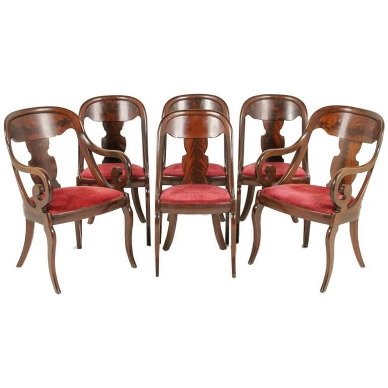 Set of Six Empire Dining Chairs