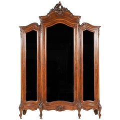 Rosewood Louis XV Revival Armoire