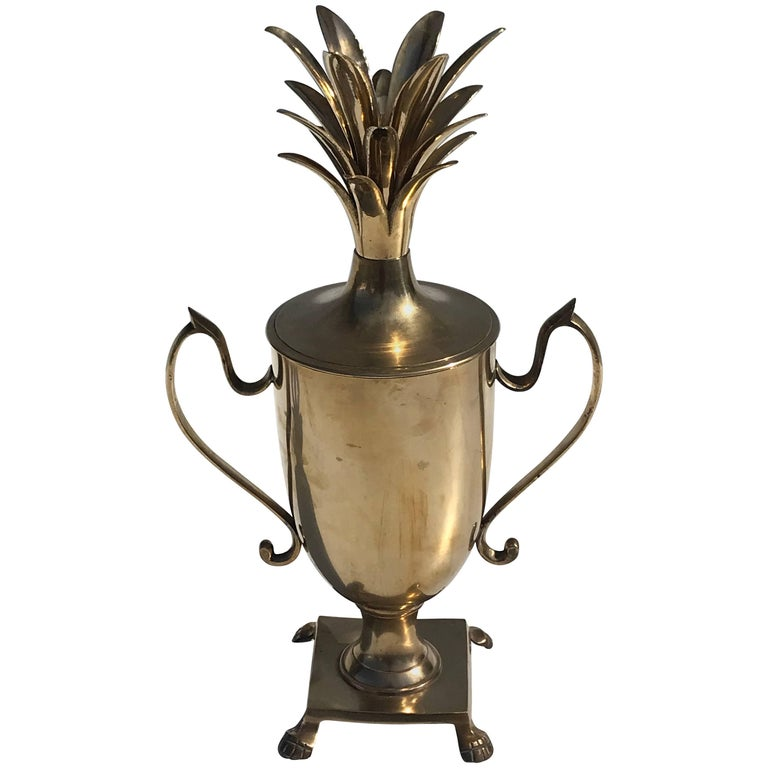Brass Pineapple Urn Beverage Cooler