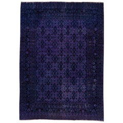 Vintage Purple Tabriz Carpet