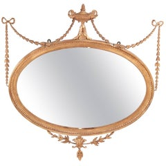 Antique Giltwood and Composition Wall Mirror