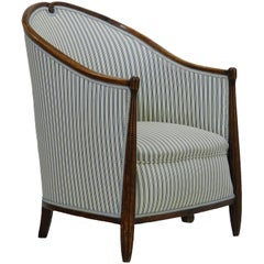 Art Deco Armchair French Bergere Chair, circa 1930 manner of Maurice Dufrene