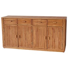 Rattan and Caned Cabinet