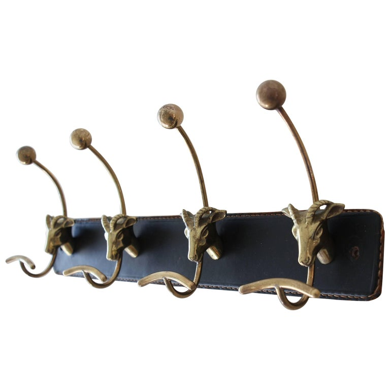 Jacques Adnet Attributed Coat Rack For Sale