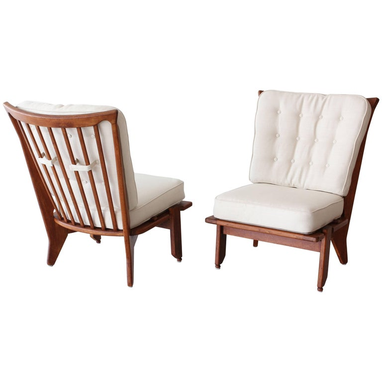 Guillerme and Chambron Lounge Chairs For Sale