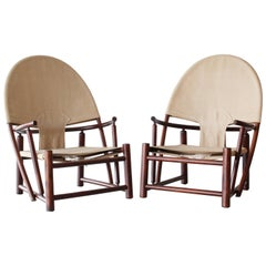 "Pair of ""Hoop"" Lounge Chairs by Werther Toffoloni and Piero Palange"