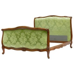 French Bed US Queen UK King Upholstered to Recover Scroll Louis, circa 1920