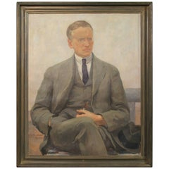 Large Self Portrait Painted by Sigurd Kielland Brandt, 1922