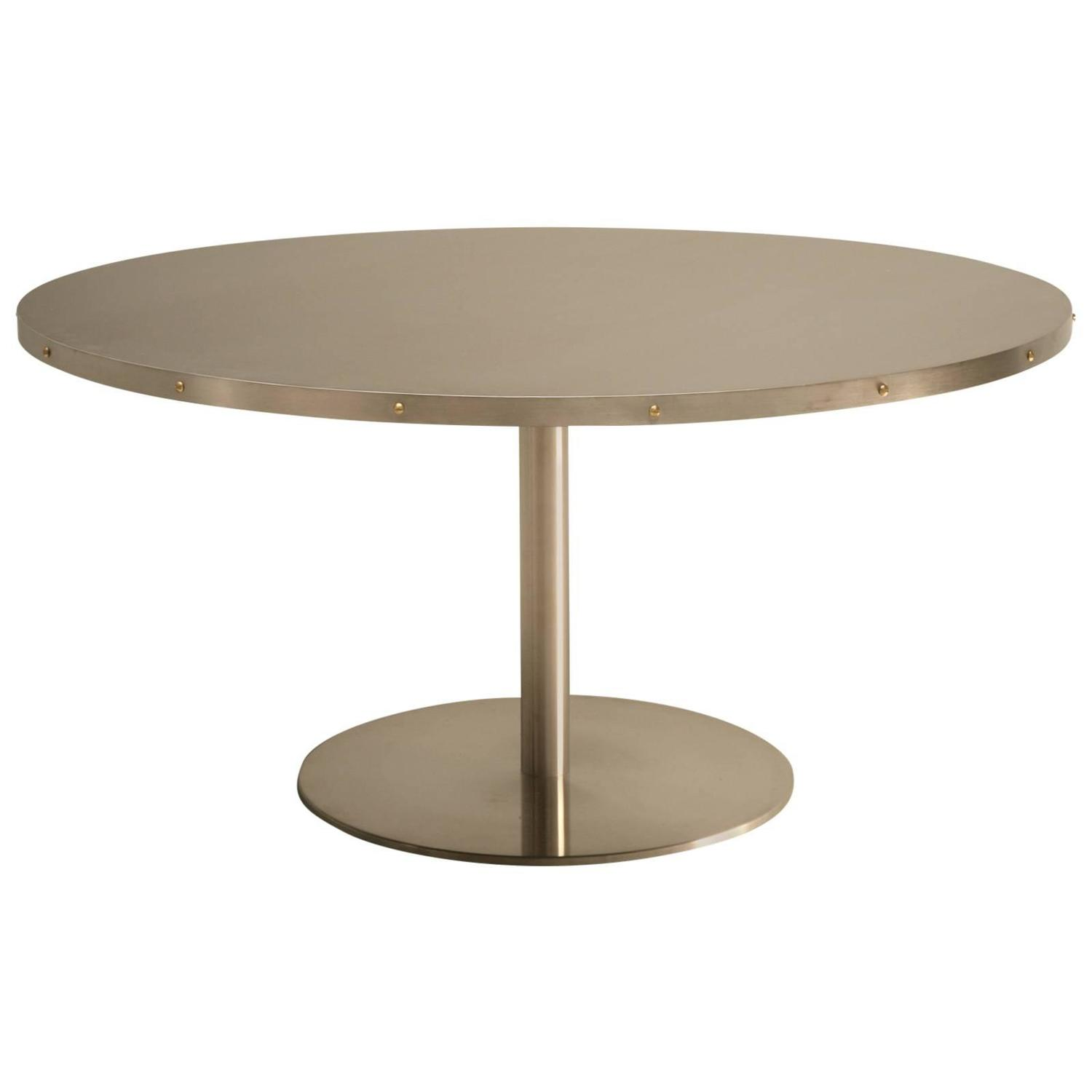 Custom 60quot Stainless Steel Dining Table at 1stdibs : 1069506z from www.1stdibs.com size 1500 x 1500 jpeg 31kB