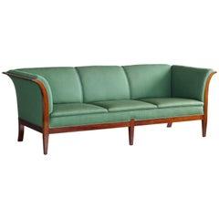 Classic Frits Henningsen Sofa in Cuban Mahogany Danish Midcentury