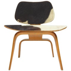 Charles and Ray Eames LCW Chair in Slunkskin by Evans Products for Herman Miller
