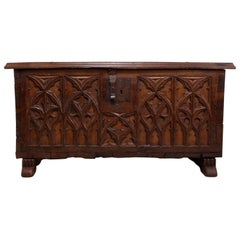 Antique French Oak Coffer