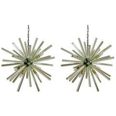 Crystal Prism Sputnik Chandeliers