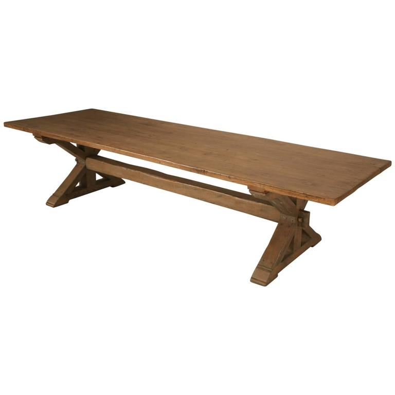 Custom Made Rift White Oak Dining Table In A Pickled Grey Finish For